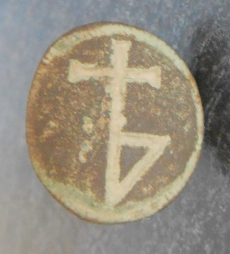 Petschaft mit einfacher, wohl später Hausmarke ohne Initialen, ca. 16./17.Jh.