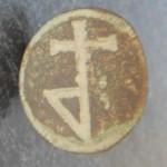Petschaft mit einfacher, wohl später Hausmarke ohne Initialen, ca. 16./17.Jh., gespiegelt