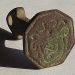 neuzeitliches Petschaft, Siegelbild: Lamm Gottes im Wappen,um 1850