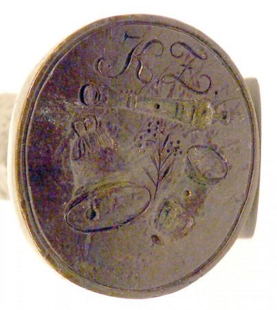Petschaft eines Kanonen- und Glockengießers, Anfang 19. Jh., gespiegelt
