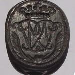 3-Seiten-Siegel um 1750, Handhabe fehlt