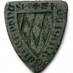 schildförmiges Siegel, vermutlich Adelsgeschlecht VON BONSTETTEN, gespiegelt