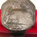 Siegelring, Neuzeit, Motiv: springendes Pferd oder Esel