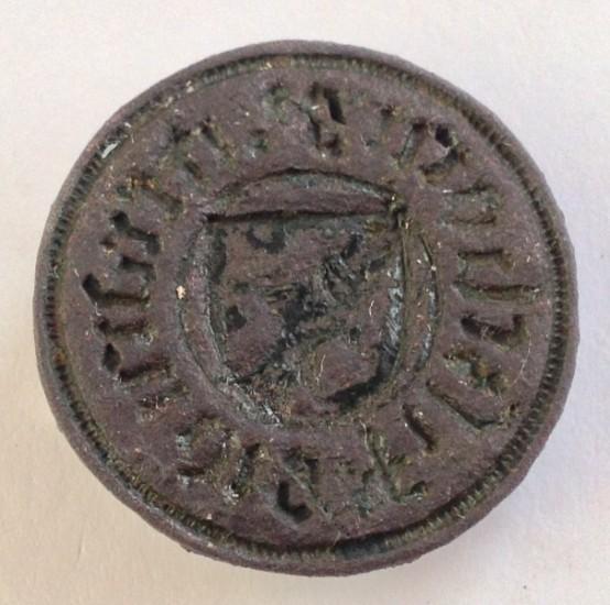 mittelalterliches deutsches Wappensiegel, bisher unbestimmt, um 1400