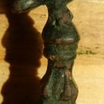neuzeitliches Petschaft mit langer Handhabe in Form einer Säule mit Adler