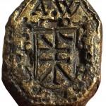 Siegelring aus Danzig mit Hausmarke im Wappen 16./17. Jh., gespiegelt