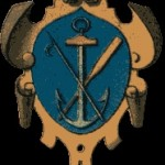 Petschaft eines Rhein – Schiffers, etwa 18. Jh., hier das Zunftzeichen der Schiffer