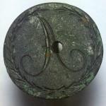 neuzeitliches Petschaft um 1800 mit ungewöhnlicher Bohrung in der Siegelfläche