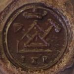 neuzeitliches Petschaft um 1800 mit den Symbolen der Freimaurer