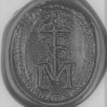Neuzeitliches Petschaft mit eingearbeiteten Initialien in Hausmarke, vermutlich 17. Jh