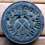 Petschaft des Spätmittelalter, wohl 15.Jh., Steg-Handhabe, Süddeutschland
