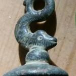 neuzeitliches Petschaft, Handhabe in Fisch-Form, wohl um 1800