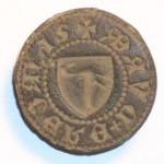 Petschaft mit einem Vogel (Schwan?) im Wappen, ca. 14.Jh.