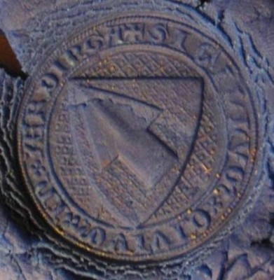 Stadtsiegel , Siegel der Bürgerschaft von Erding um 1400