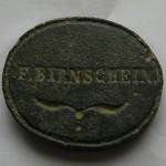 """Petschaft von """"F.Birnschein"""" um 1900, gespiegelt"""