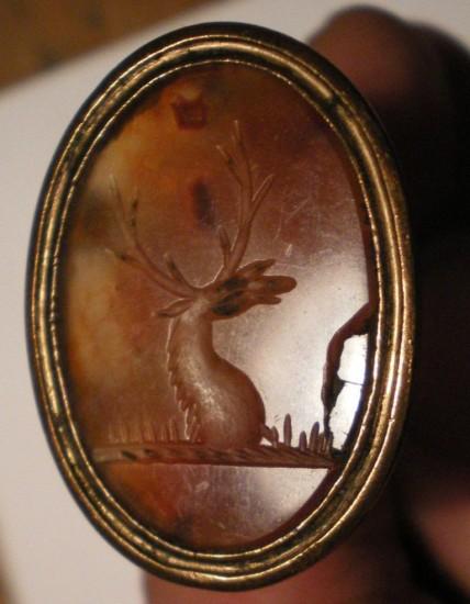 Petschaft mit Siegelplatte aus Karneol ? um 1800/1850