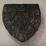 Original-Scan eines Rittersiegels mit halber Lilie, 13./14.Jh., Original verschollen