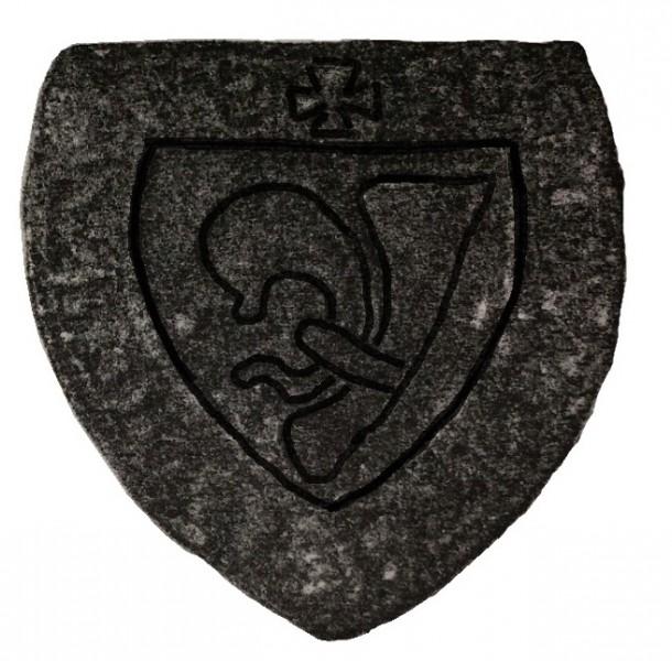 bearbeiteter Scan eines Rittersiegels mit halber Lilie, 13./14.Jh., Original verschollen