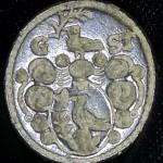 neuzeitliches Petschaft um 1800, Vogel im und über ovalem Wappen mit Initialen