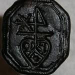 neuzeitliche Petschaft mit Initialen, Herz u.Segenszeichen etc. ca.17.Jh.