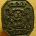 neuzeitlicher Siegelring eines Bäcker um 1800