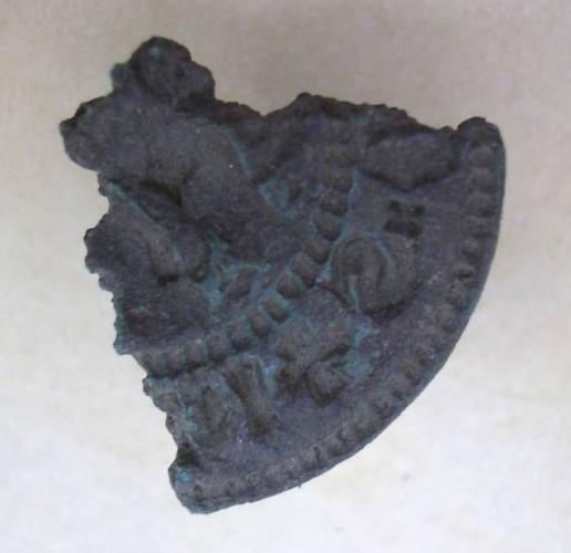 Siegelfragment aus Süddeutschland, Rückseite unbekannt, mittelalterlich