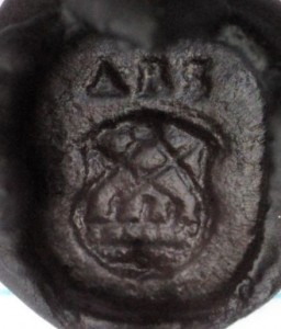 neuzeitliches Petschaft aus Bronze 16./17.Jh., Abdruck
