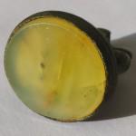 Petschaft / Berlock aus dem Barock mit hellem Stein mit unbearbeiteter Siegelfläche