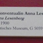 Rostock, Kulturhistorisches Museum: Beschriftung des Siegels der Konventualin