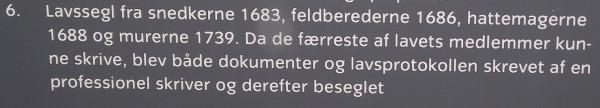 Randers / DK 4 Petschafte von 1683, 1686, 1688 und 1739 / Beschriftung