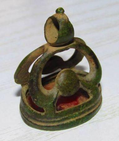 Petschaft aus dem Barock mit rotem Stein mit unbearbeiteter Siegelfläche