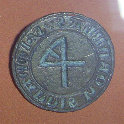 Greifswald Landesmuseum mittelalterliches Petschaft mit Hausmarke