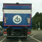 Vorpommern, Hausmarke in Form des Segenszeichen 4 als Segel einer Hansekogge