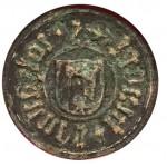 Minuskelinschrift,- S iohannes hinerk oder binert - Wappen unkenntlich, bürgerlich 15. Jh. (Westpfalz)