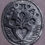 silbernes Petschaft, Handhabe in Form eines Fisches, 18. Jh